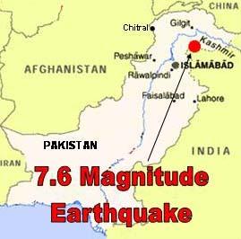 7.6 Magnitude Earthquake hits North India and Pakistan border region