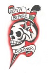 Death Before Dishonor Tattoo Vintage